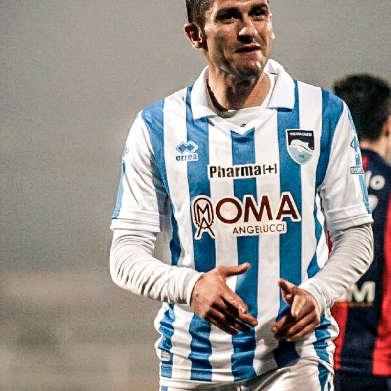 Sansovini Pescara match worn shirt vs Crotone 3/3/2015 Serie B