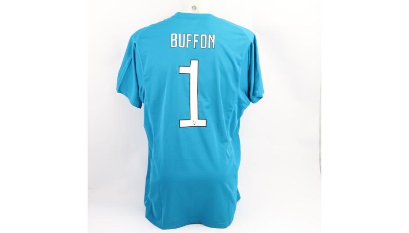 Buffon's Juventus Match Shirt, UCL 2017/18