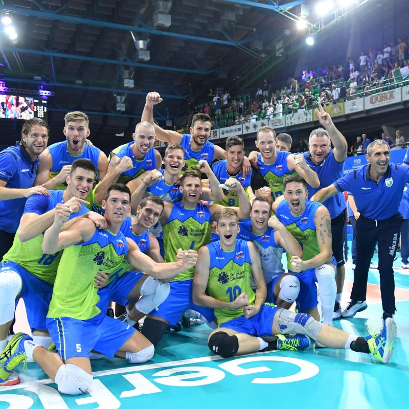 Official FIVB Volleyball Signed by the Slovenia National Volleyball Team