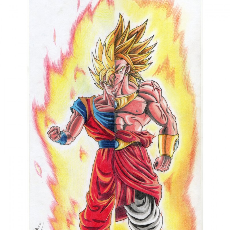 "Dragon Ball Z ""Broly vs. Goku"" - Unique Artwork by Manuel Frattini"