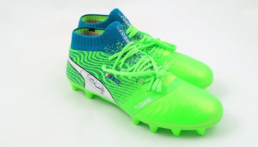 Chiellini's Match-Issue Puma One Signed Boots, 2017/18 Season