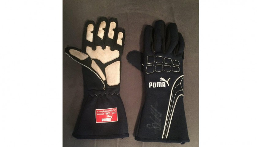 Sebastian Vettel's 2008 Toro Rosso Worn and Signed Puma Race Gloves