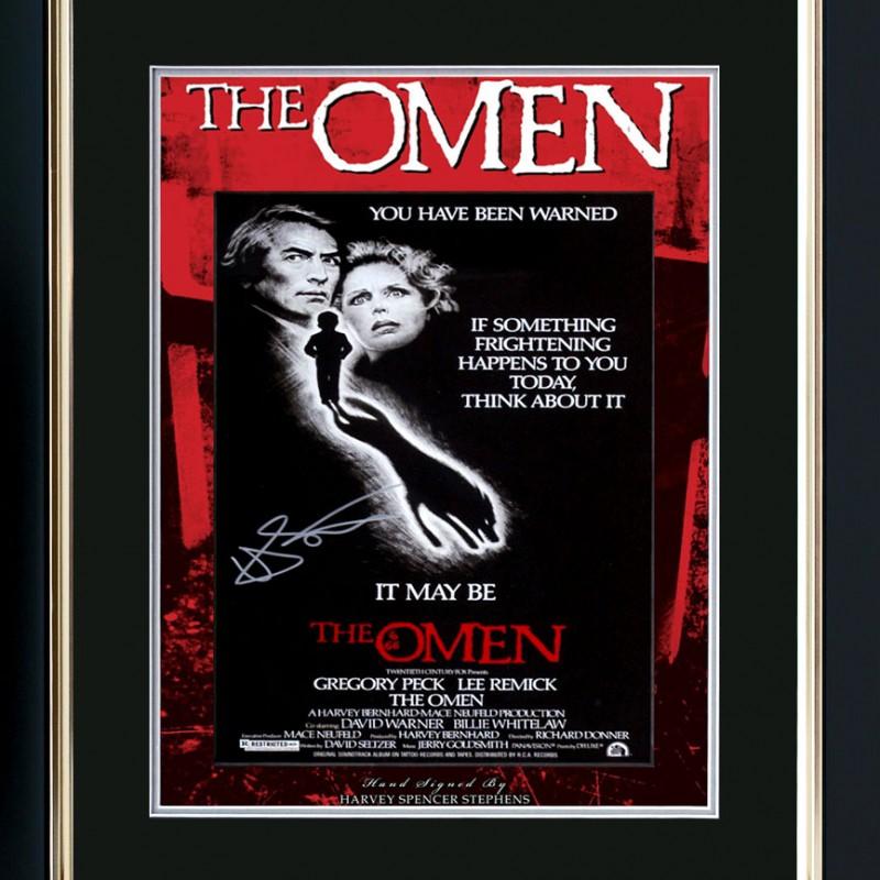 Omen Movie Poster Signed by Damien - Harvey Spencer Stephens