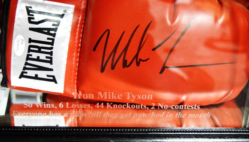 Mike Tyson Hand Signed Boxing Glove