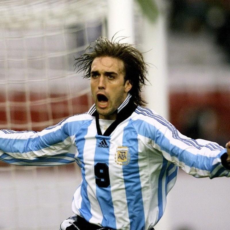 Argentina Retro Shirt - Signed by Batistuta