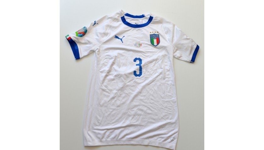 Chiellini's Match Shirt, Italy-Greece 2019 - Signed by the Players