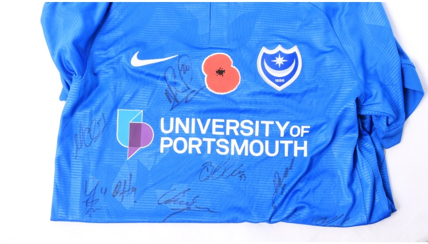 Portsmouth Official Poppy Shirt Signed by the Team