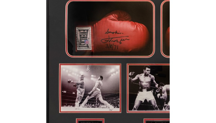 Muhammad Ali and Joe Frazier Signed Boxing Gloves