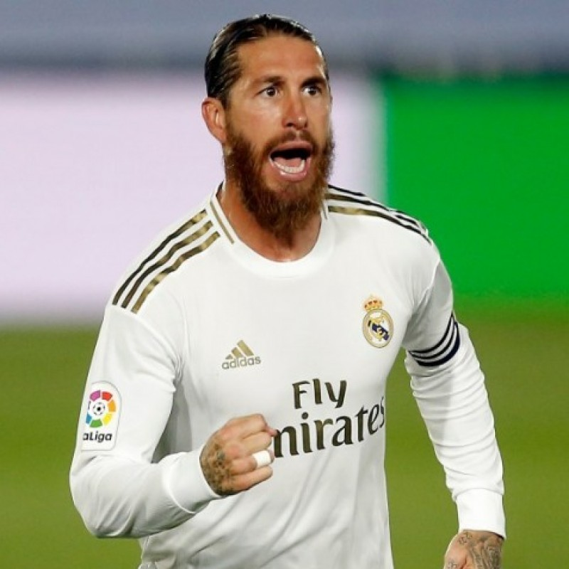 Sergio Ramos' Official Real Madrid Signed Shirt, 2019/20