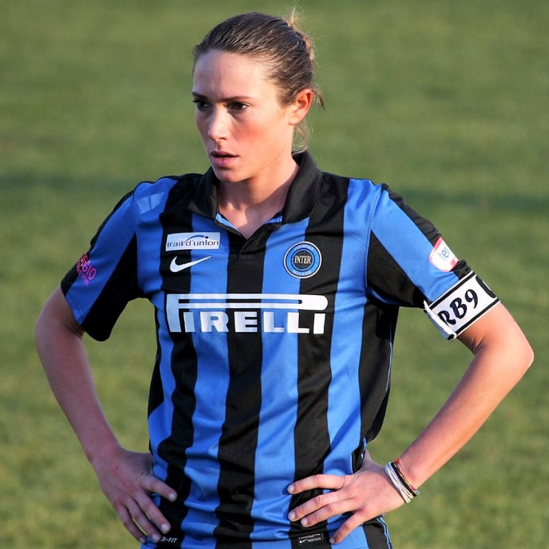 Regina Baresi's Official Inter Women's Signed Shirt