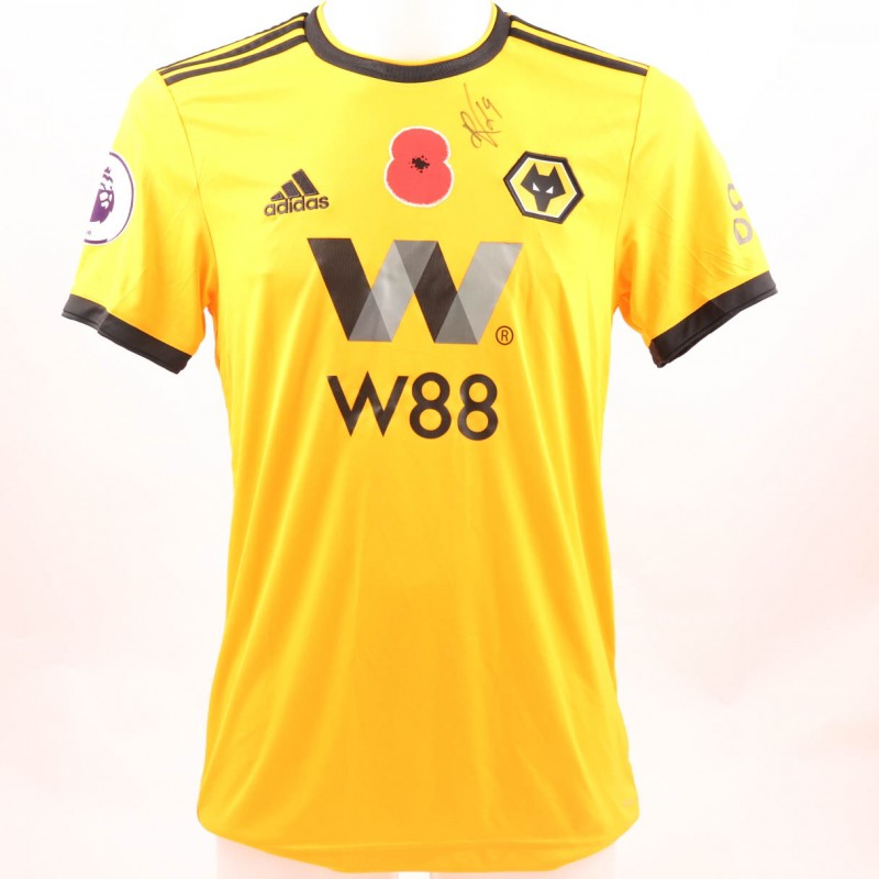 Vinagre's Wolves FC Issued and Signed Poppy Shirt