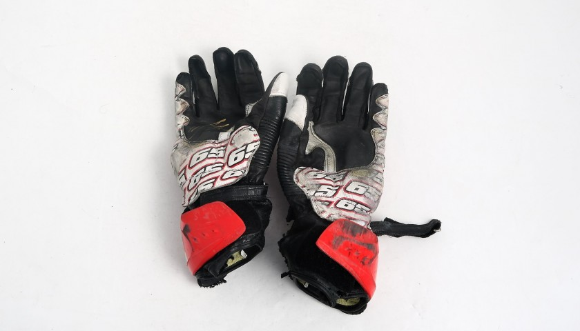 Alpinestars Gloves Worn and Signed by Jonathan Rea, 2017 Season