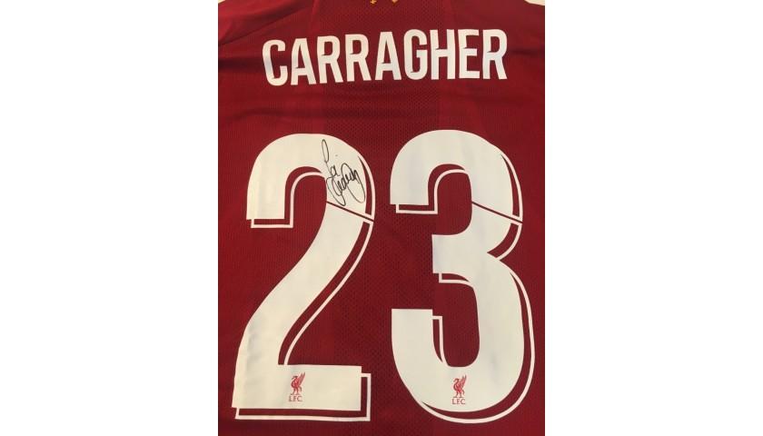 Carragher's Liverpool FC Legends Match Worn and Signed Shirt