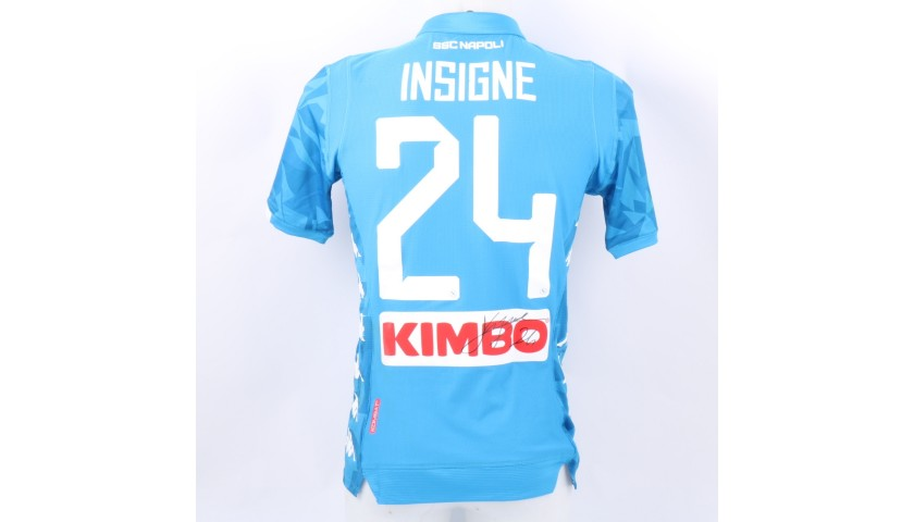 Insigne's Napoli Worn and Signed Shirt, 2018/19