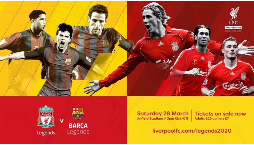 LFC Legends v Barça Legends VIP Match & Pitchside Experience