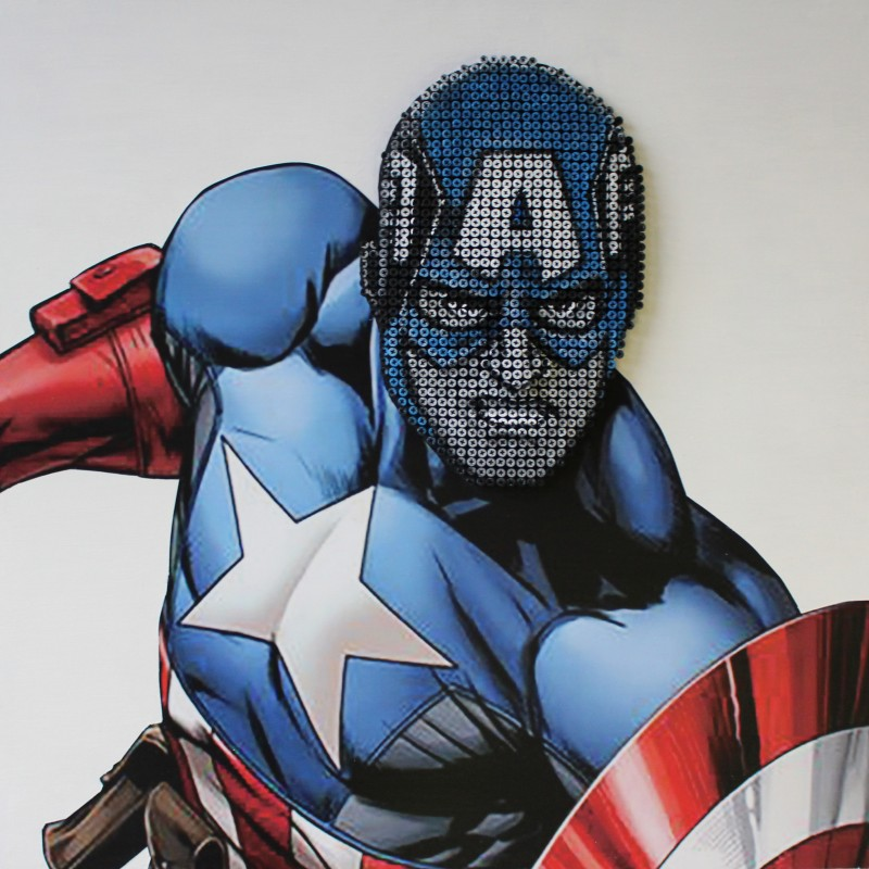 """Captain America"" by A. Padovan (Drill Monkeys Art Duo)"