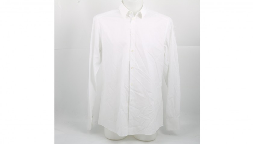 Tiziano Ferro's White Dress Shirt