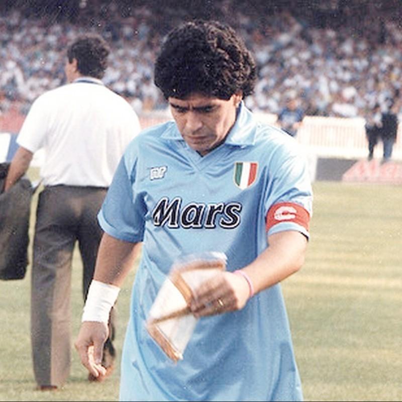 Captain's Armband Worn and Signed by Diego Armando Maradona, 1990/91