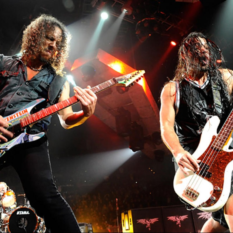 Kirk Hammett and Robert Trujillo of Metallica Hand Signed Baseball