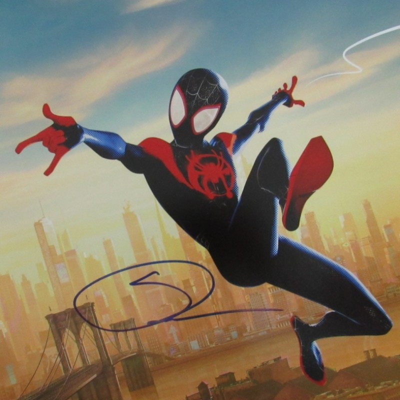 Shameik Moore Signed Spiderman Lithograph