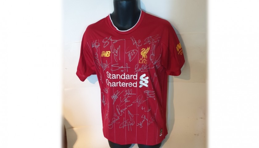 Liverpool Squad Signed Shirt Premiership Champions 2019/20