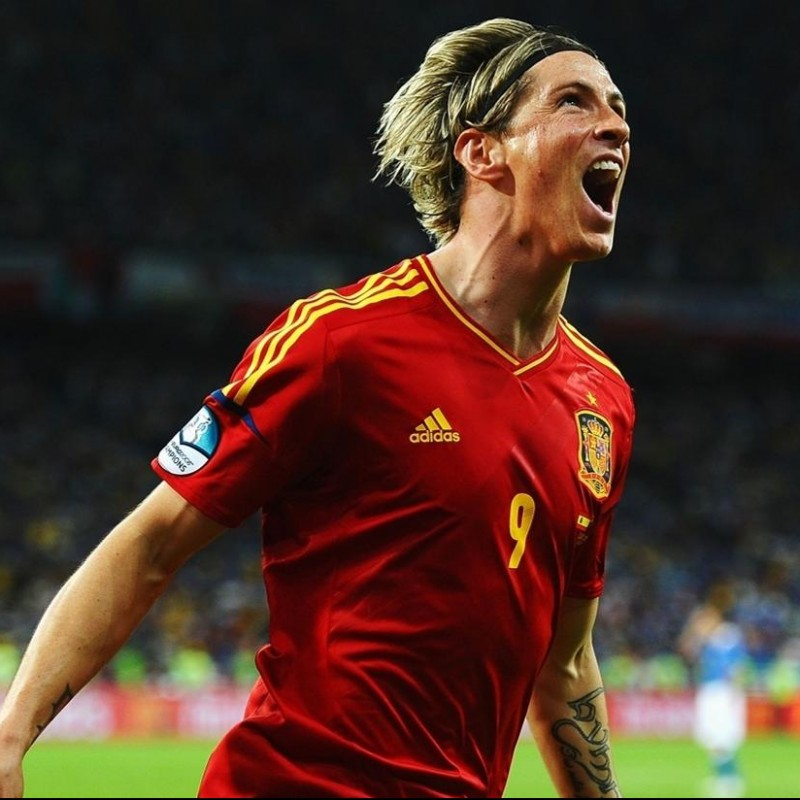 Torres' Official Spain Signed Shirt, 2012