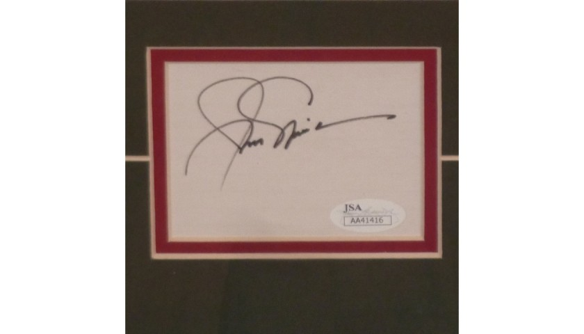 Jack Nicklaus and Arnold Palmer Signed Framed Photo