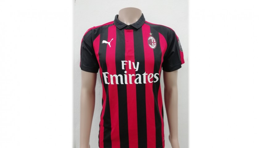 Calabria's AC Milan Match-Issue Signed Shirt, 2018/19