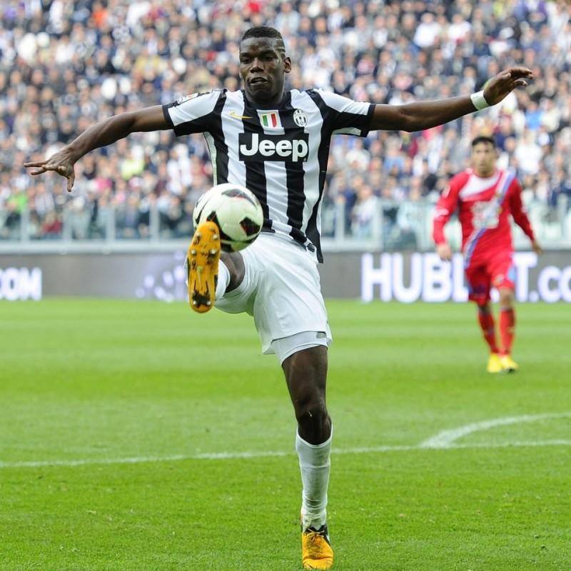 Pogba's UNWASHED Match-Worn 2013/14 Juventus Shorts