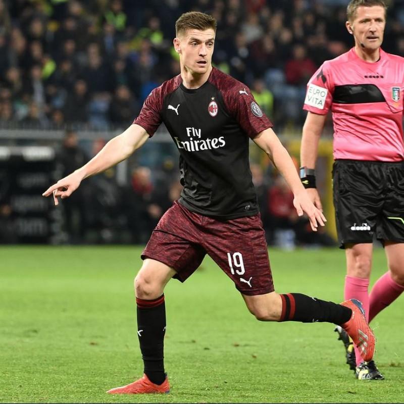Piatek's Milan Match Shirt, Serie A 2018/19