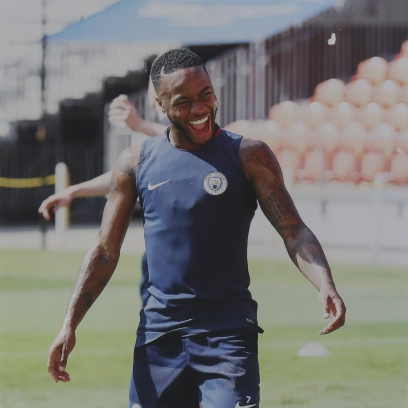 Back to Back Unique Pictures of Man City's Raheem Sterling and Legend Yaya Touré