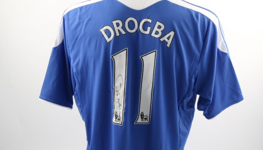 best website 3bf30 613ba Official Replica Chelsea 2011/12 Home Shirt Signed by Didier Drogba -  CharityStars