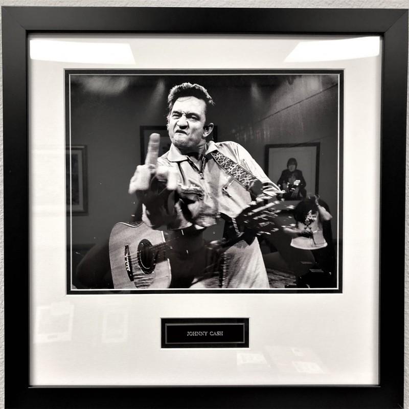 """Jonny Cash """"Walk The Line"""" Framed Photo"""