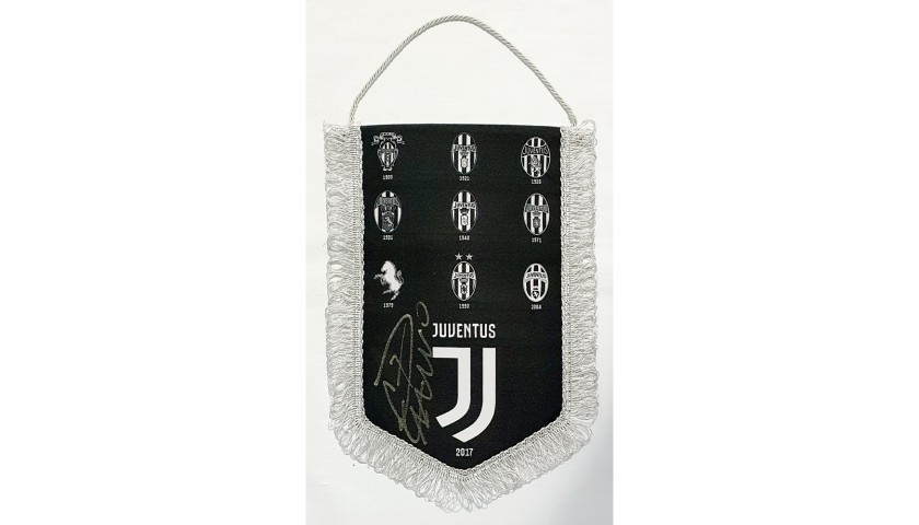 Official Juventus Pennant - Signed by Cristiano Ronaldo