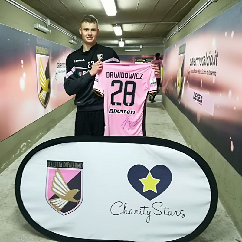 Dawidowicz's Signed Match-Worn Shirt, 2018 Palermo-Frosinone