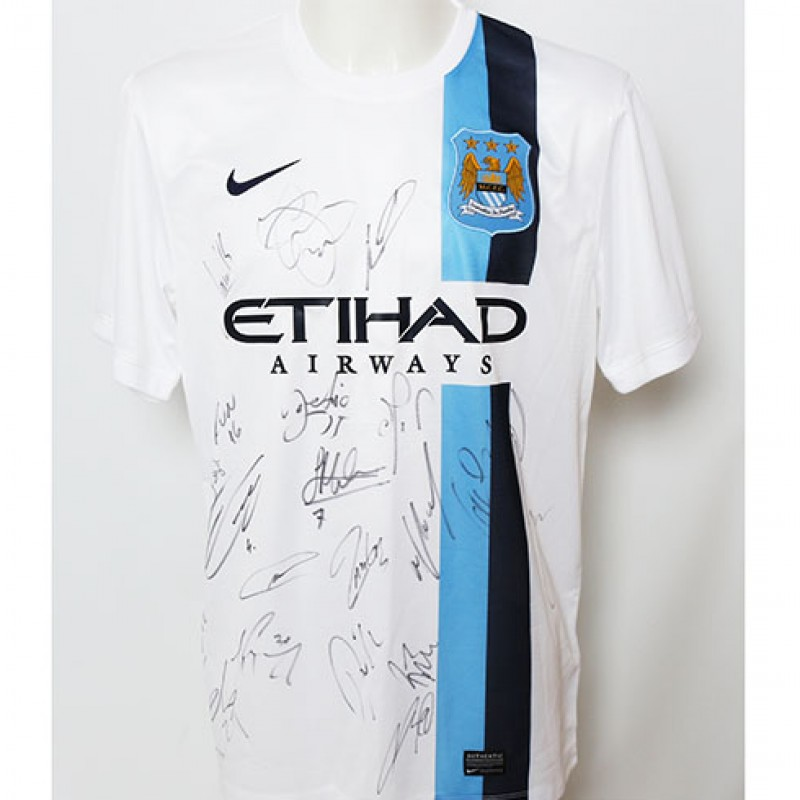 Official Manchester City FC Team Signed Away Shirt