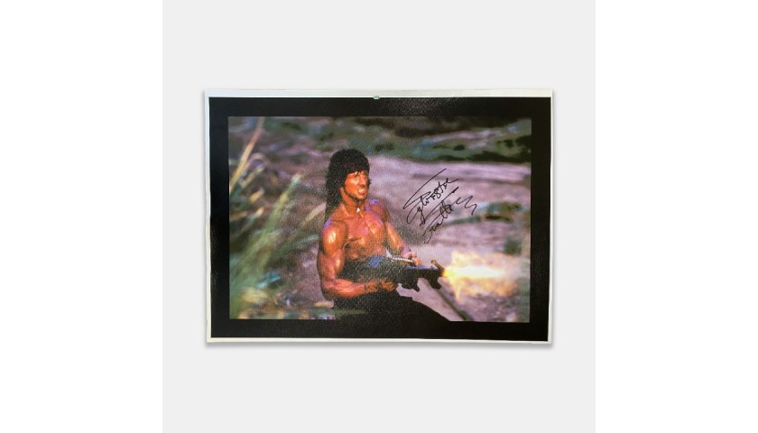 Sylvester Stallone Signed Rambo Canvas
