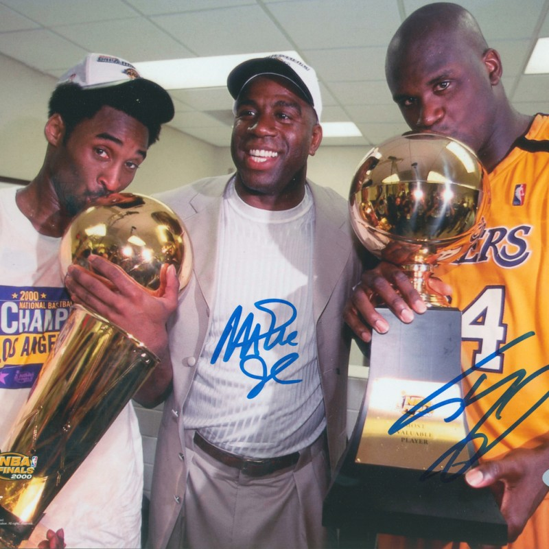Shaquille O'Neal & Magic Johnson Signed Photograph
