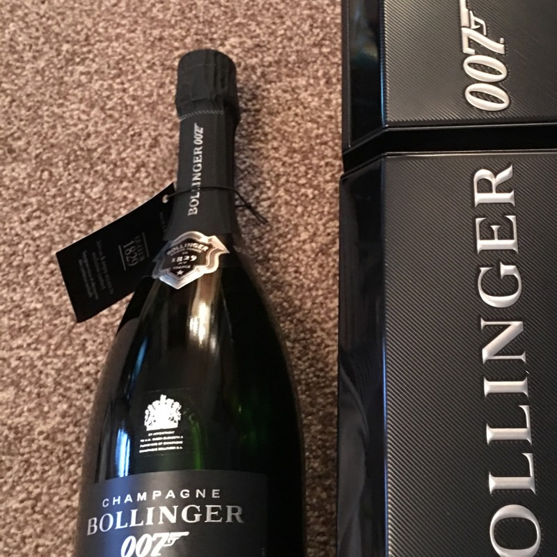 007 Spectre bottle of Bollinger Champagne in Case