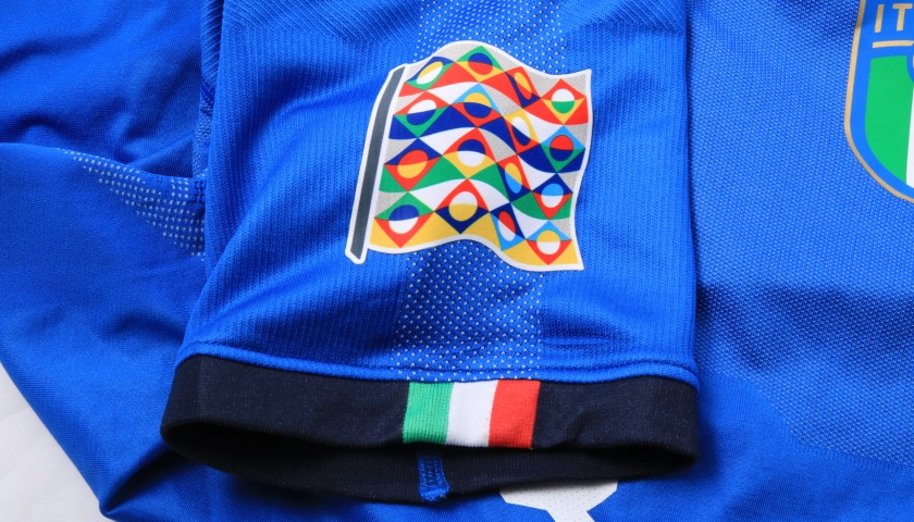 chiellini 39 s match issue shirt italy portugal 2018 t. Black Bedroom Furniture Sets. Home Design Ideas