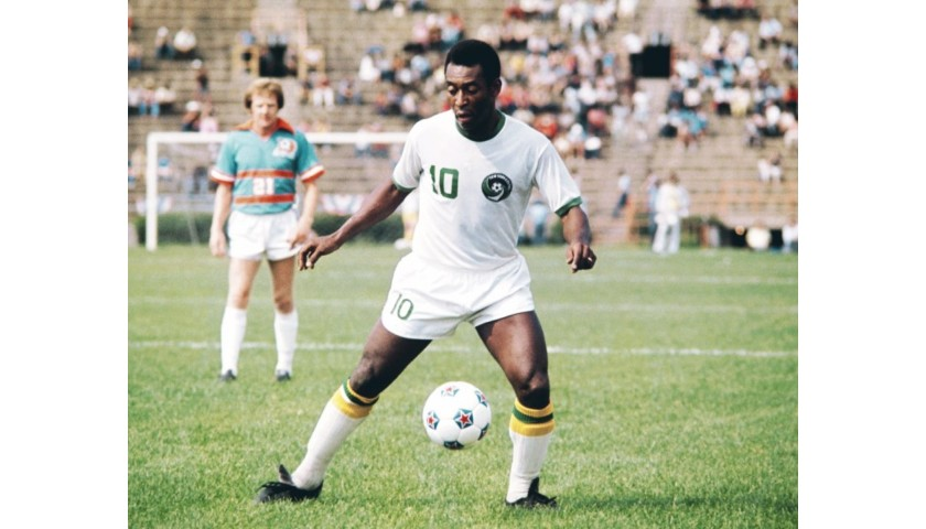 Pelé Hand Signed Cosmos Jersey