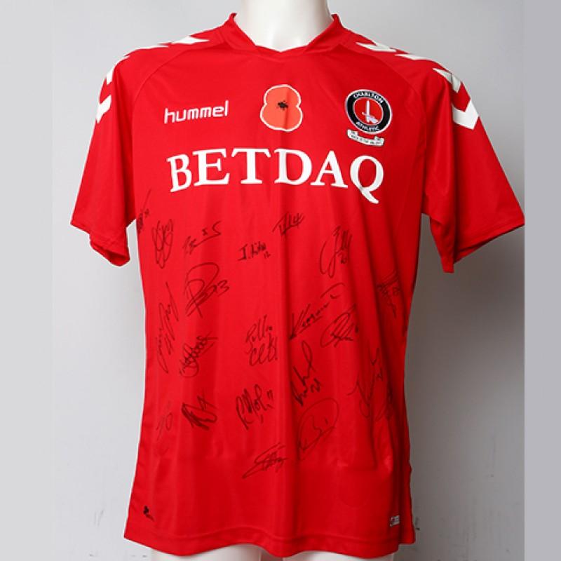 Poppy Shirt Signed by Charlton Athletic F.C.