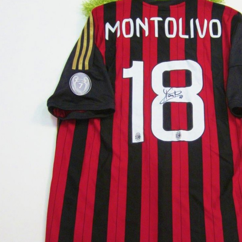 Milan shirt, Serie A 2013/2014 - signed by Montolivo