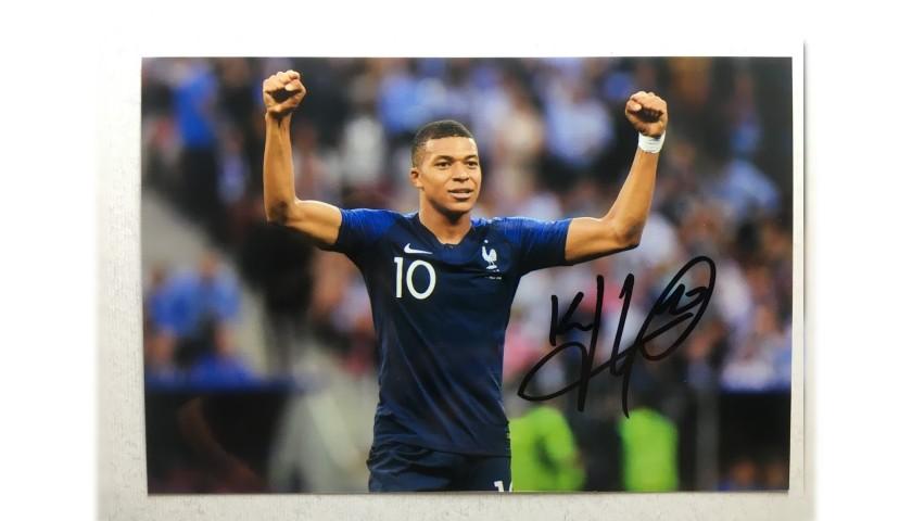 Kylian Mbappe Signed Photograph