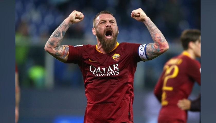 De Rossi's Roma Signed Match Shirt, 2018/19