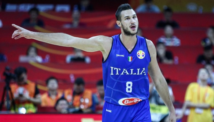 Gallinari's Official Italy Signed Vest, 2019