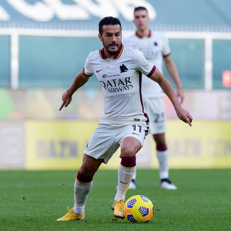 Pedro's Worn Shirt, Genoa-Roma 20/21 - Tribute to Gigi Proietti