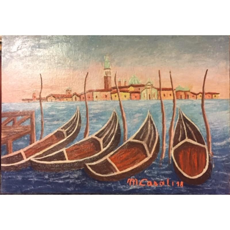 """""""Venezia isola di San Giorgio con gondole"""" by Casali Mosè, 2018"""