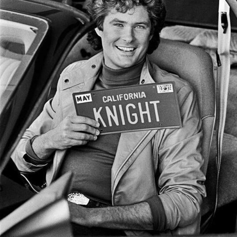 Knight Rider - Kitt's License Plate Signed by William Daniels