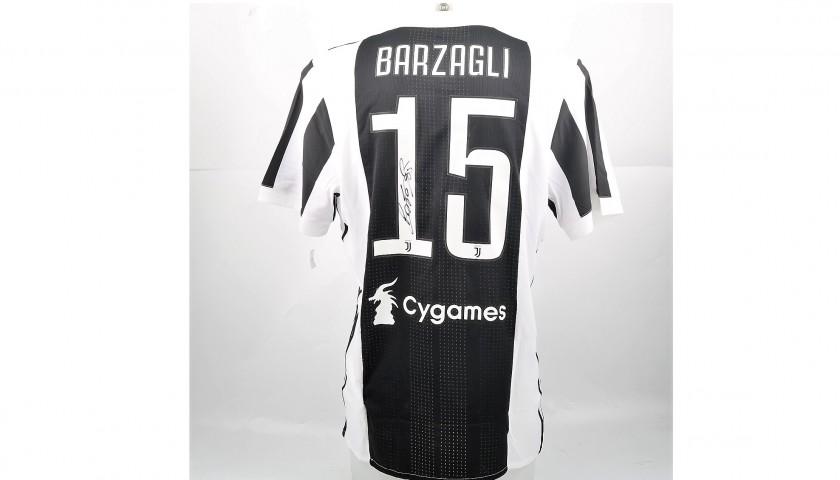Signed Authentic Barzagli Juventus Shirt, 2017/18 - CharityStars